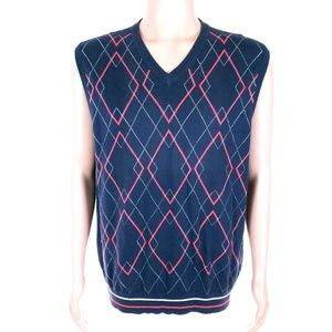 Tommy Hilfiger Golf Vest Knit V-neck 100% Cotton